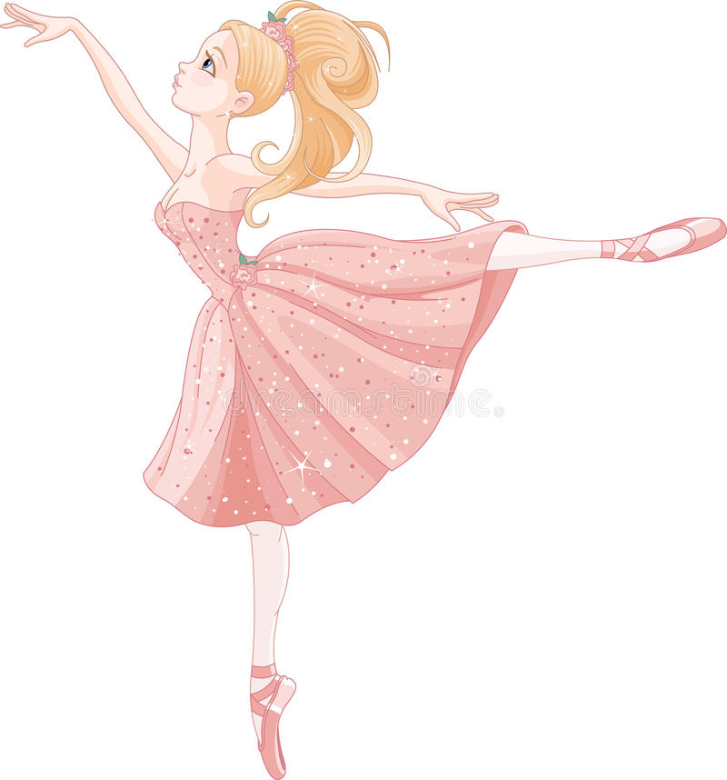 Tanzenballerina stock abbildung