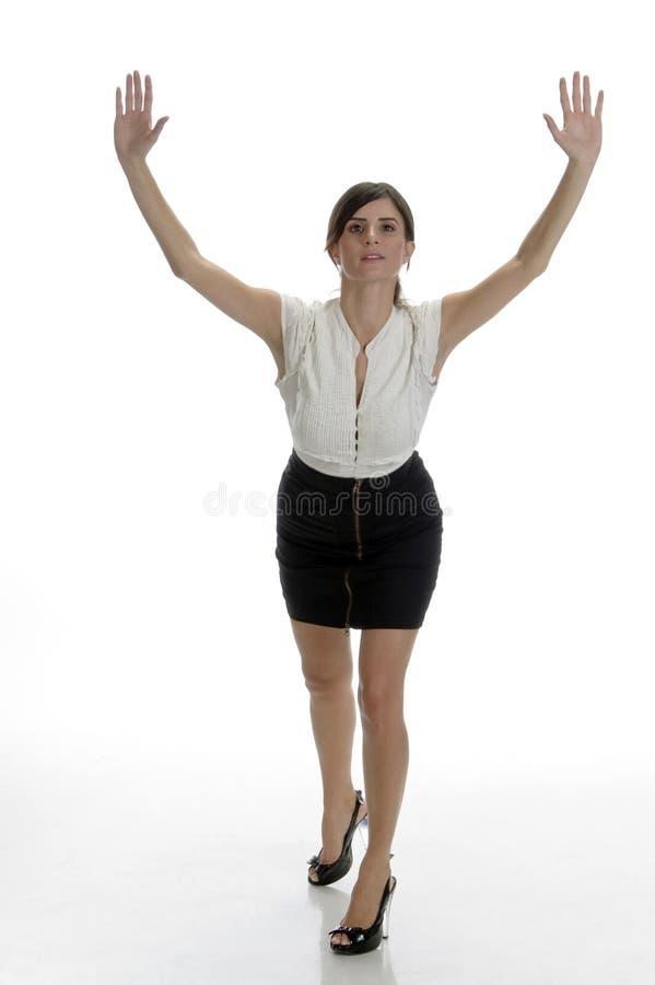 Tanzende reizvolle Dame lizenzfreies stockbild