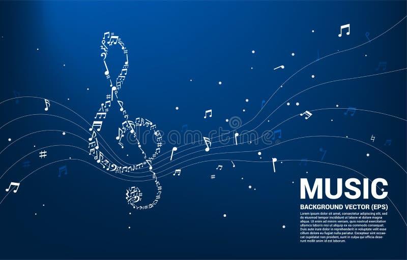 Tanzender Fluss Grundgedankens Vektormusikmelodienform-Solenoides stock abbildung