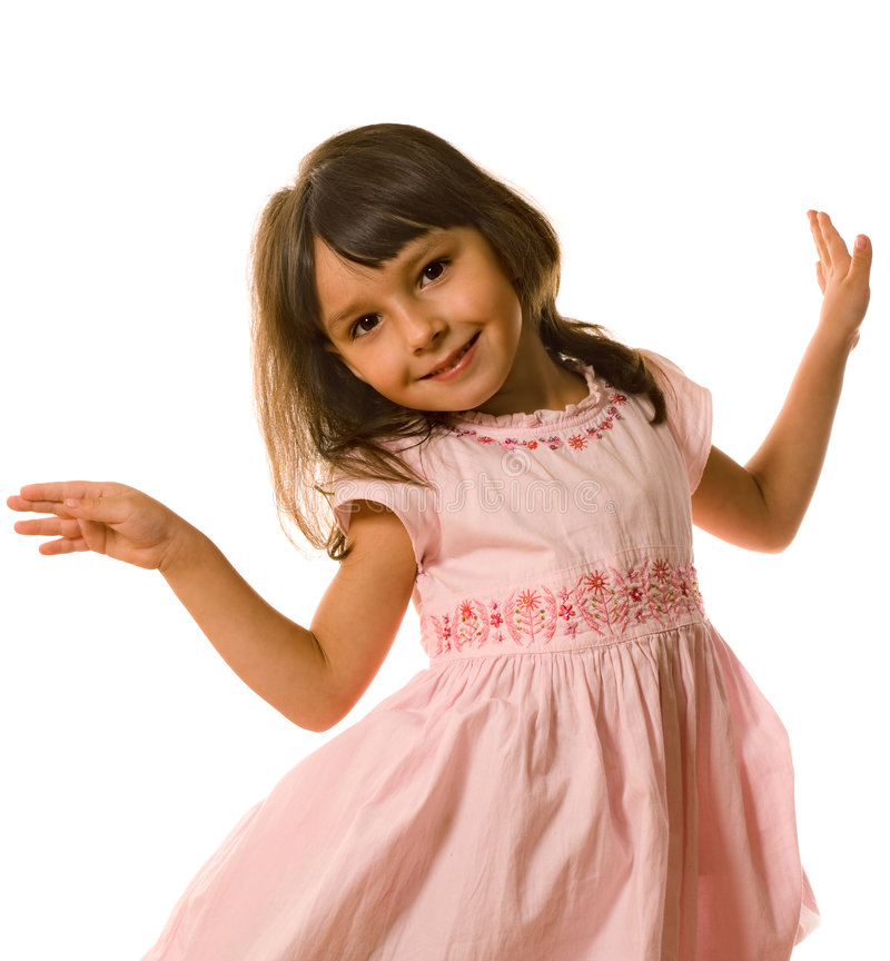 Tanzendes kleines Mädchen stockfoto