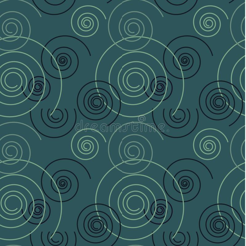 Download Tanzendes Nahtloses Muster Des Strudels Vektor Abbildung - Illustration von kunst, treppenhaus: 106803557