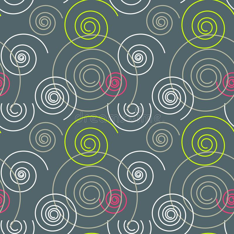 Download Tanzendes Nahtloses Muster Des Strudels Vektor Abbildung - Illustration von graphik, surreal: 106803658