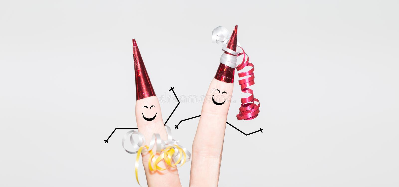 Tanzenfinger auf einer Partei lizenzfreies stockfoto