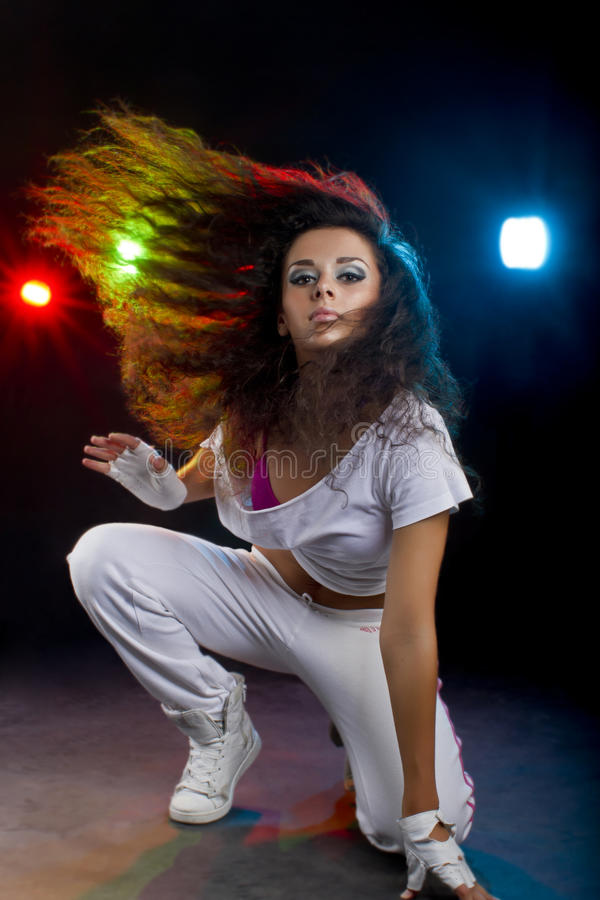 Tanzenfrau stockfotografie
