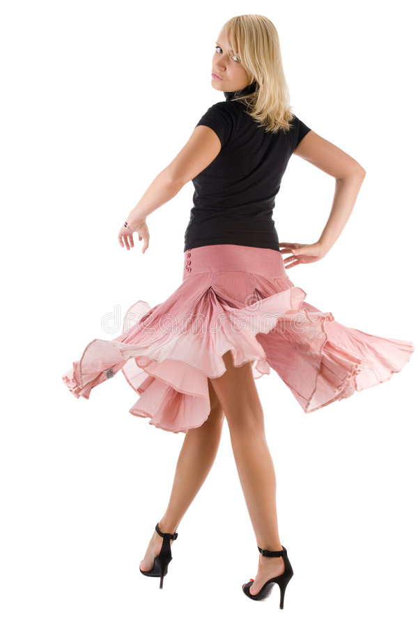 Tanzenfrau lizenzfreies stockbild