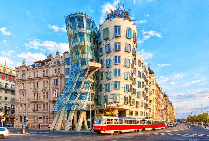 Tanzenhaus Prag, Tschechische Republik stockbilder