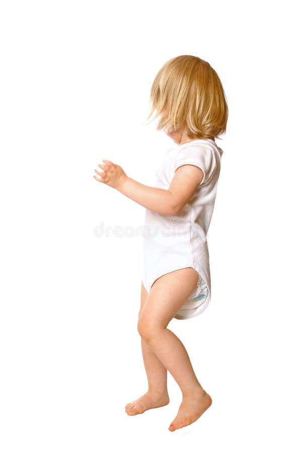 Tanzenkleinkindmädchen lizenzfreies stockbild