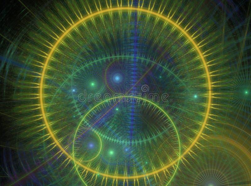 Tanzenkugeln von Energie stock abbildung