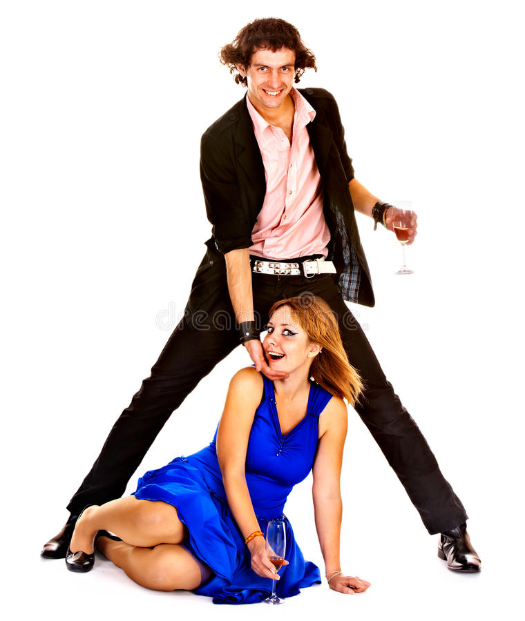 Tanzenpaare auf lokalisiert. lizenzfreie stockbilder