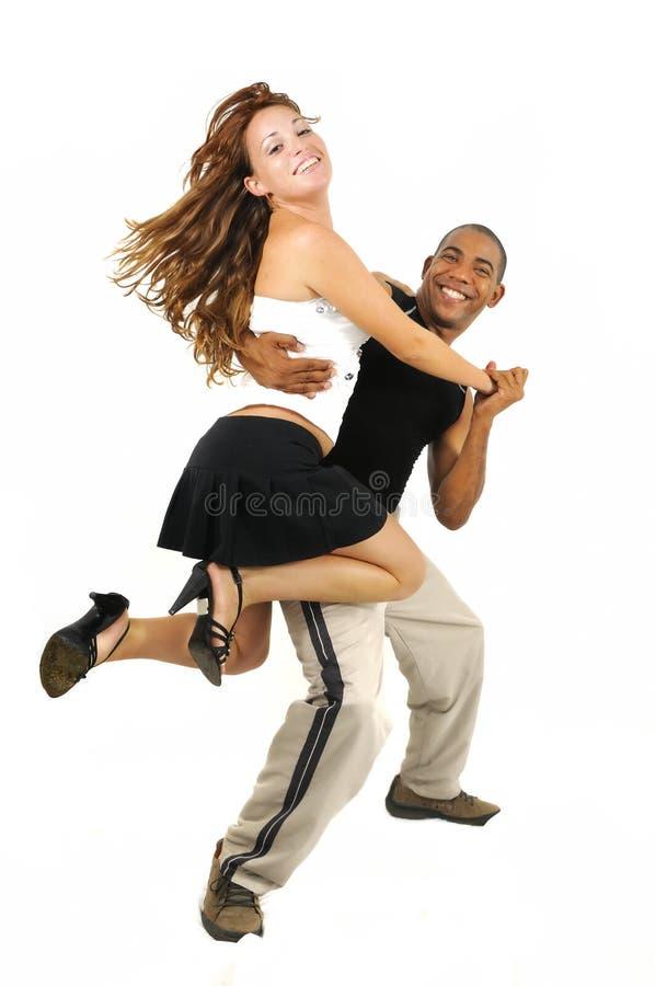 Tanzenpaare mit Latinoausbilder lizenzfreie stockbilder