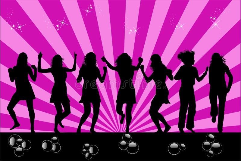Tanzenprofil der Frau lizenzfreie abbildung