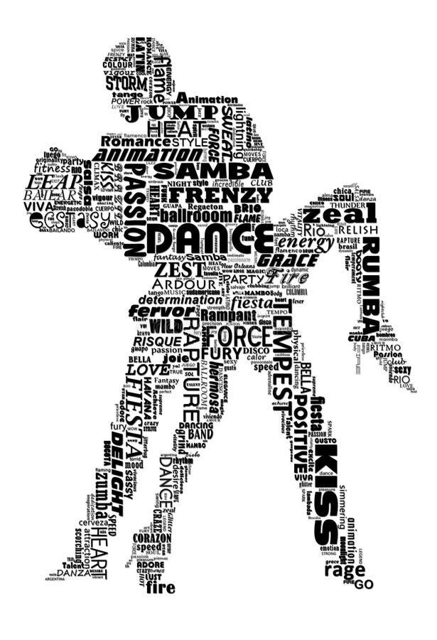 Tanzwörter lizenzfreie abbildung