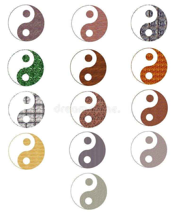 Download Set Of Colorful Artistic Tao Stock Illustration - Illustration of design, china: 12241076
