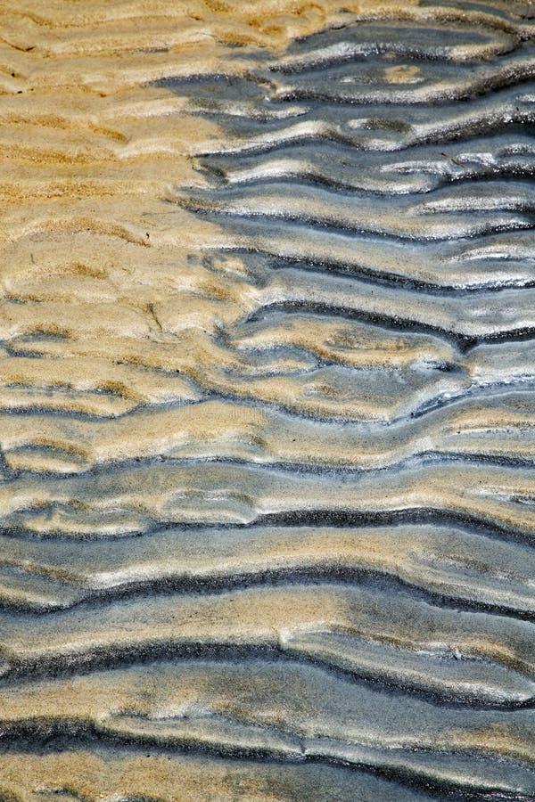 Tao -baaisamenvatting van een nat zand en het strand in Zuid-China stock afbeeldingen