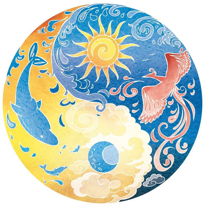 Tao Mandala Diksha lizenzfreie abbildung