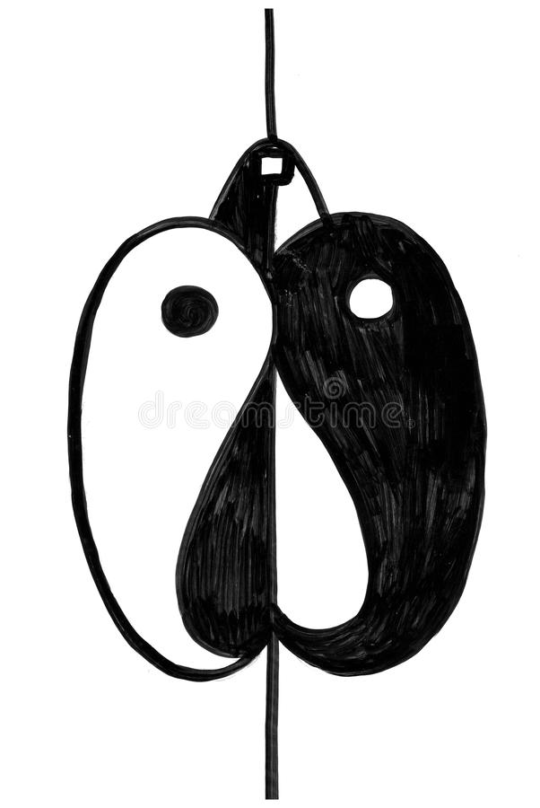 Tao Mouse Black And White Abstract Symbol Stock Vector