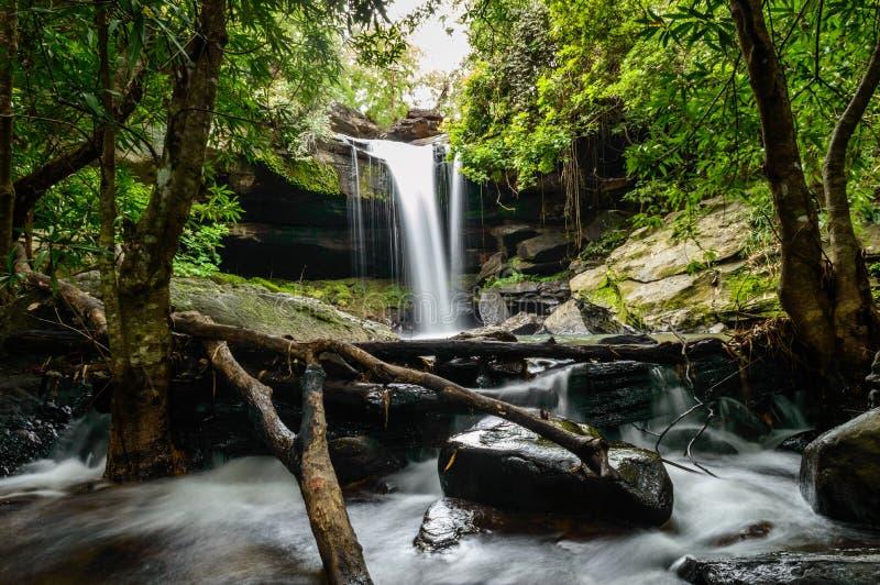 Tao Pun waterfall. In khongChiam amazing ,thailand stock image