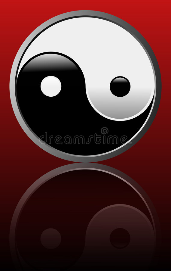 Download Tao Symbol - Red Background Stock Vector - Image: 7359895