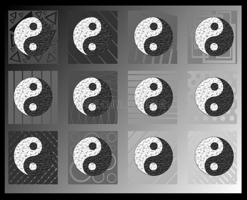 Tao-Tapete stock abbildung