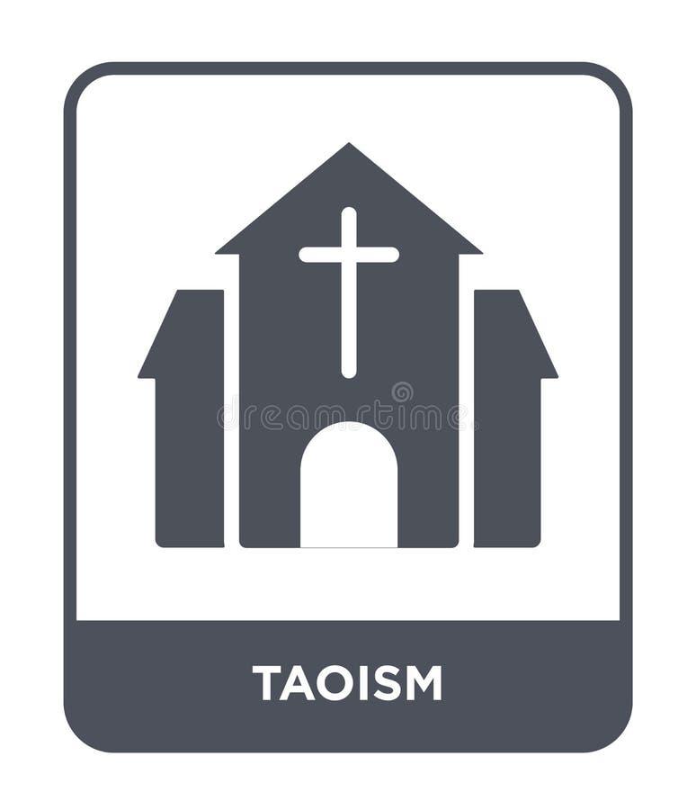 taoism ikona w modnym projekta stylu taoism ikona odizolowywająca na białym tle taoism wektorowej ikony prosty i nowożytny płaski ilustracji