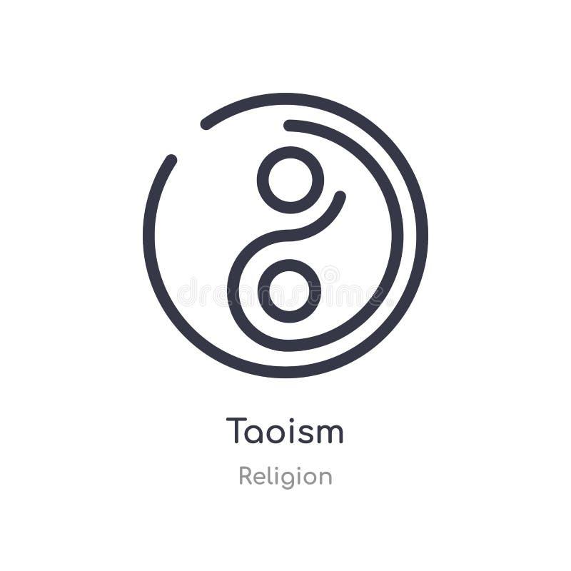 taoism konturu ikona odosobniona kreskowa wektorowa ilustracja od religii kolekcji editable cienieje uderzenia taoism ikon? na bi royalty ilustracja