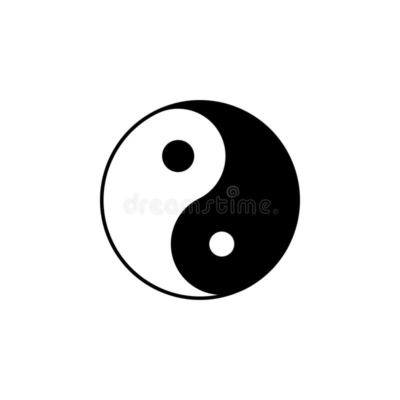 Taoism Taijitu sign icon. Element of religion sign icon for mobile concept and web apps. Detailed Taoism Taijitu icon can be used. For web and mobile on white stock illustration