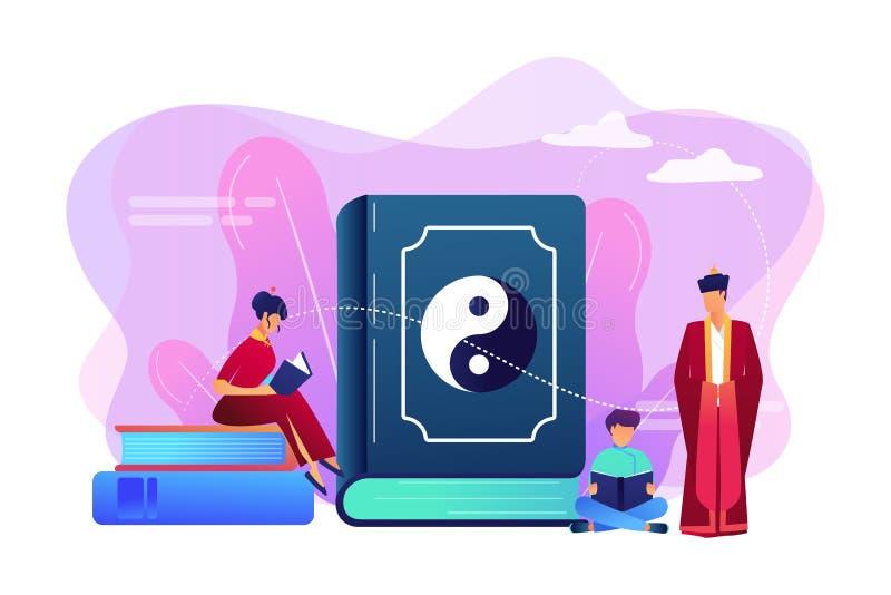 Taoismuskonzept-Vektorillustration stock abbildung