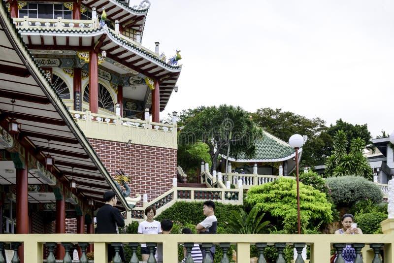 Taoist de Dag heldere gekleurde mooi van Tempelcebu Filippijnen stock fotografie