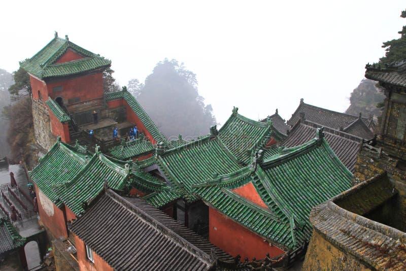 Taoist-Gebäude im Porzellan stockbilder