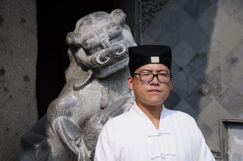 Taoist monnik stock fotografie