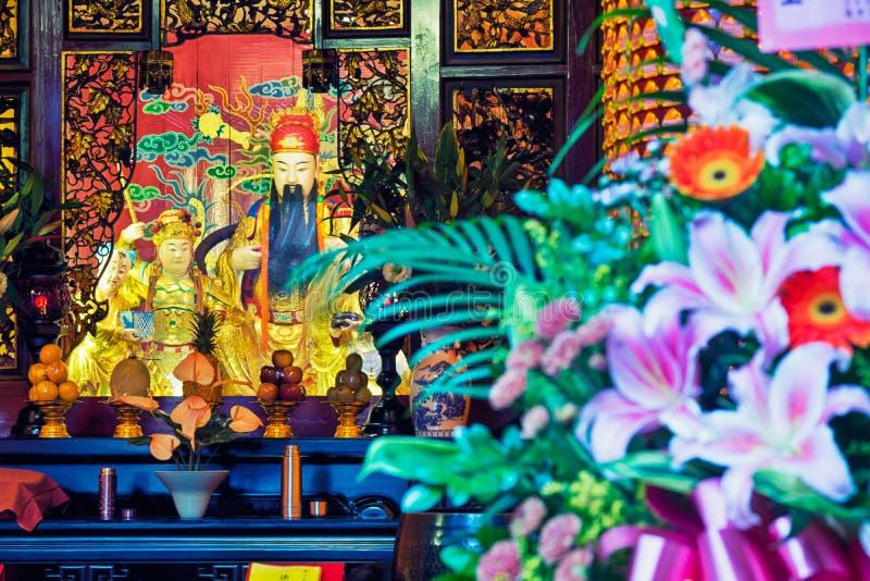 Taoist tempel in Taipeh - Taiwan royalty-vrije stock fotografie