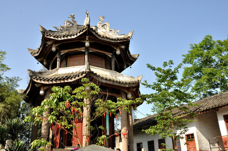 Taoist Temple. Zhenwu Palace at a Taoist temple in Lingyun Mountain, Nanchong, Sichuan, China stock photo