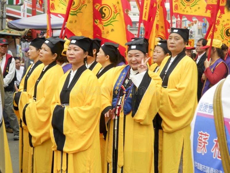 Taoistmunkar royaltyfri bild