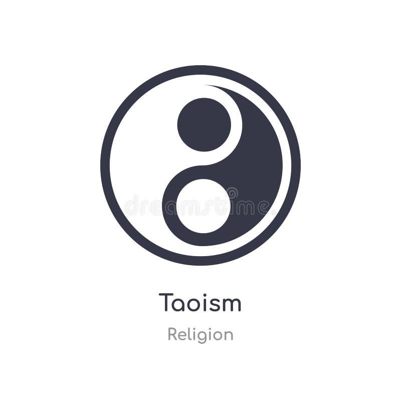 Taoizm ikona odosobnionej taoism ikony wektorowa ilustracja od religii kolekcji editable ?piewa symbol mo?e by? u?ywa dla strony  ilustracja wektor
