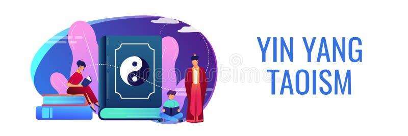 Taoizmu poj?cia sztandaru chodnikowiec royalty ilustracja
