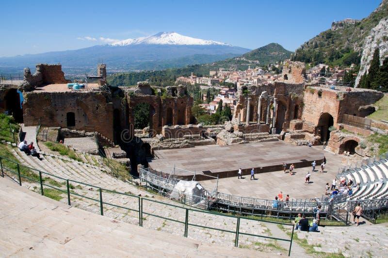 taormina της Ιταλίας Σικελία στοκ φωτογραφίες με δικαίωμα ελεύθερης χρήσης