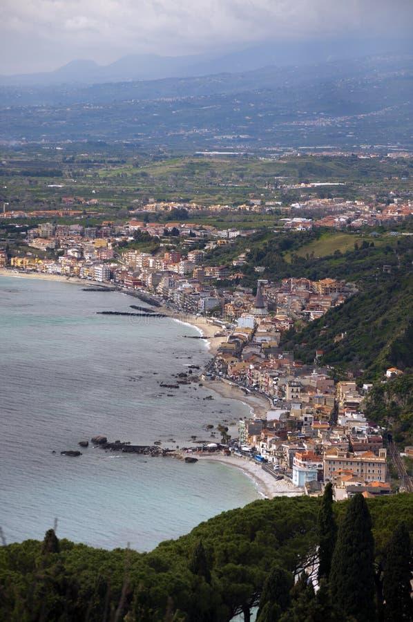 taormina Сицилии Средиземного моря Италии стоковые изображения