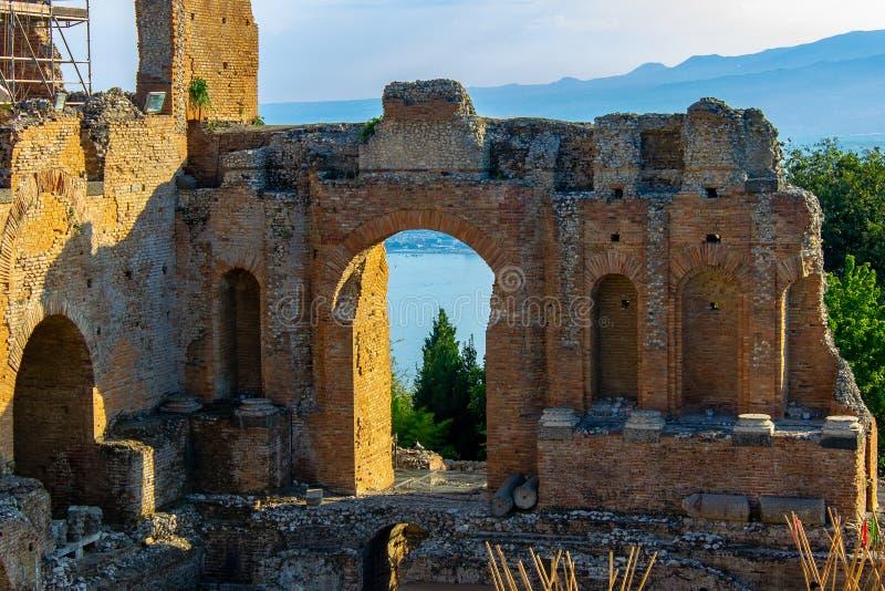 Taormina, столицы греческого театра стоковые изображения