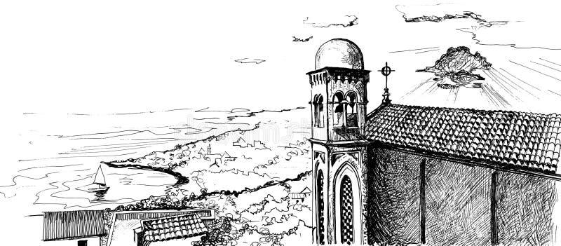 Taormina illustrazione vettoriale