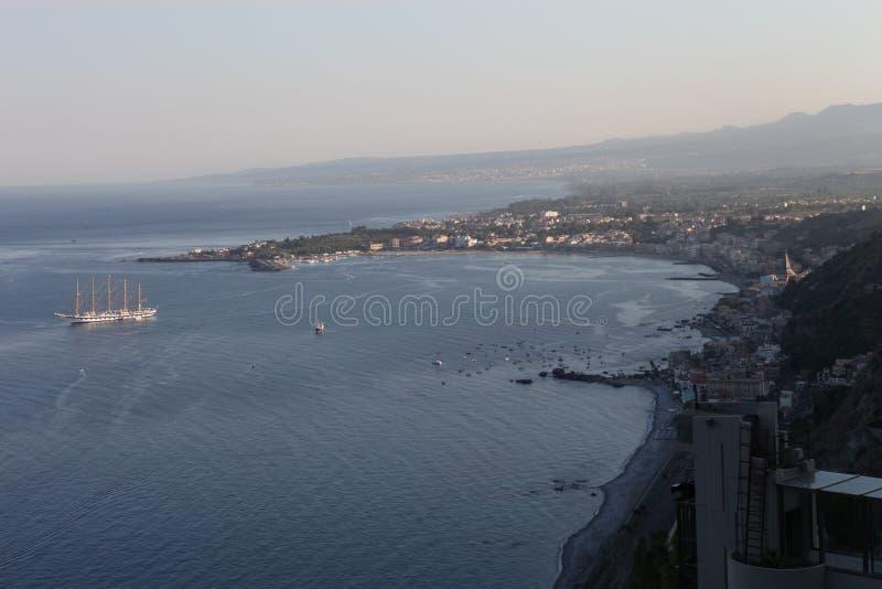 Download Taormina stock image. Image of island, volcano, beach - 37613897
