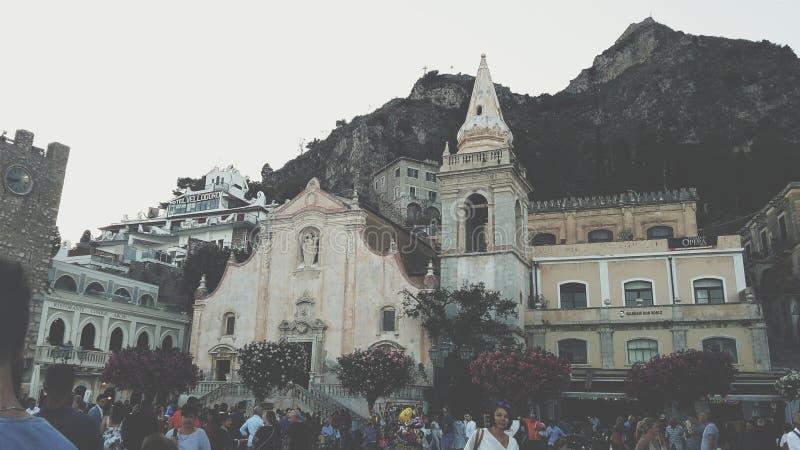 Taormina imagen de archivo