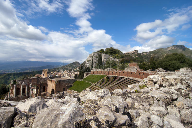 Download Taormina Greek Amphitheater In Sicily Italy Stock Image - Image: 19071915