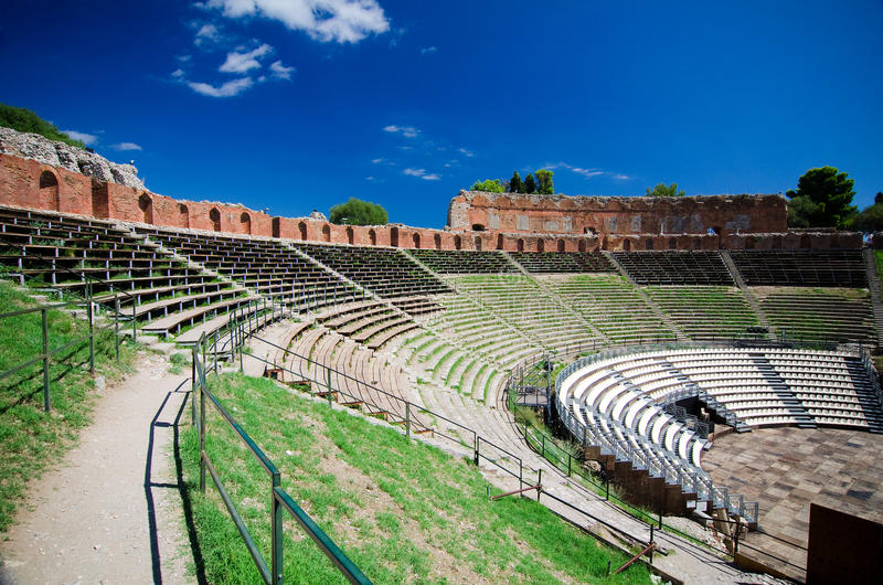 Download Taormina - The Greek Theater Stock Image - Image: 34111651