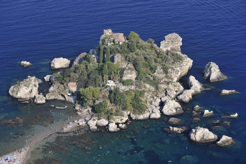 Taormina, Isola Bella immagini stock libere da diritti