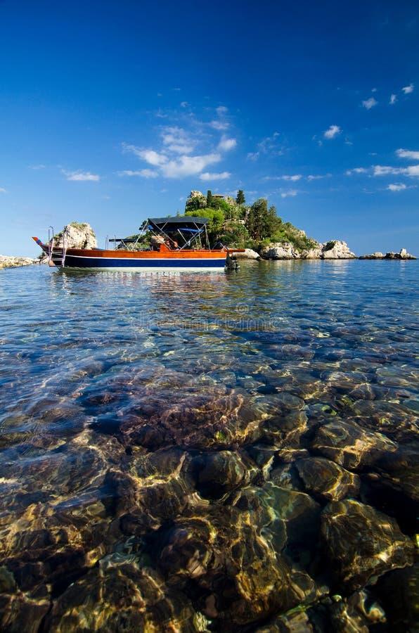 Taormina - Isola Bella fotografie stock libere da diritti
