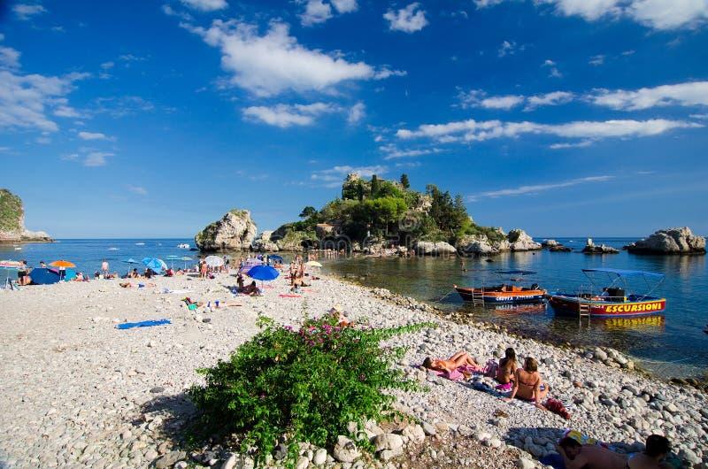 Taormina - Isola Bella immagini stock