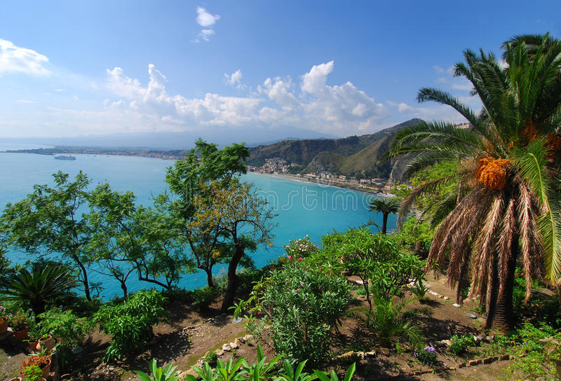 Download Taormina Landscape / Sicily Stock Image - Image: 11413645