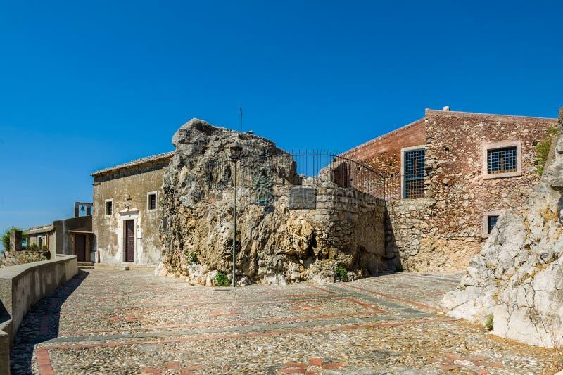 Taormina oude kerk stock fotografie