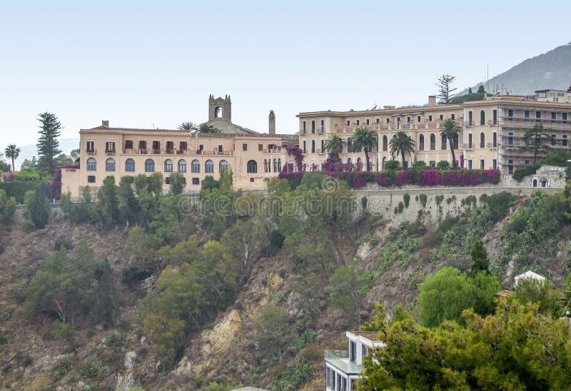 Taormina in Sicily stock images