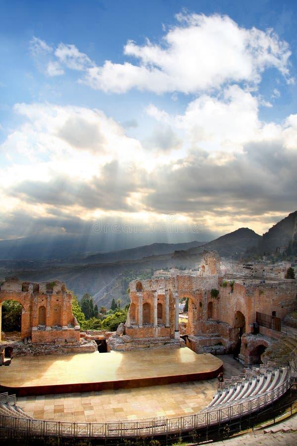 Taormina, Sizilien, Italien stockfotos